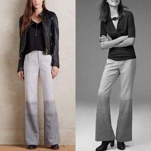 Anthro Ombré Wide Leg Flare Elevenses Trousers Dip